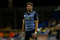 Alex Cuthbert of Cardiff Blues looks dejected after his side concedes a penalty during the Guinness PRO14 match between Cardiff Blues and Edinburgh Rugby at BT Sport Cardiff Arms Park, Cardiff, Wales on 1 September 2017. Photo by Mark  Hawkins.