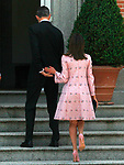 King Felipe VI of Spain and Queen Letizia of Spain in the Zarzuela Palace. April 25,2015. (ALTERPHOTOS/Acero)
