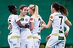 Solna 2015-10-11 Fotboll Damallsvenskan AIK - FC Roseng&aring;rd :  <br /> Roseng&aring;rds Natasa Andonova firar sitt 0-3 m&aring;l med Anita Asante , Sara Bj&ouml;rk Gunnarsdottir och lagkamrater under matchen mellan AIK och FC Roseng&aring;rd <br /> (Foto: Kenta J&ouml;nsson) Nyckelord:  Damallsvenskan Allsvenskan Dam Damer Damfotboll Skytteholm Skytteholms IP AIK Gnaget  FC Roseng&aring;rd jubel gl&auml;dje lycka glad happy