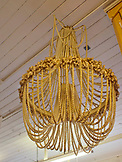 ENGLAND, Brighton, a Gold Pearl Chandelier