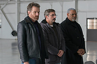 Last Flag Flying (2017) <br /> From L to R: Bryan Cranston as &quot;Sal,&quot; Steve Carrell as &quot;Doc,&quot; and Laurence Fishburne as &quot;Mueller&quot;<br /> *Filmstill - Editorial Use Only*<br /> CAP/FB<br /> Image supplied by Capital Pictures