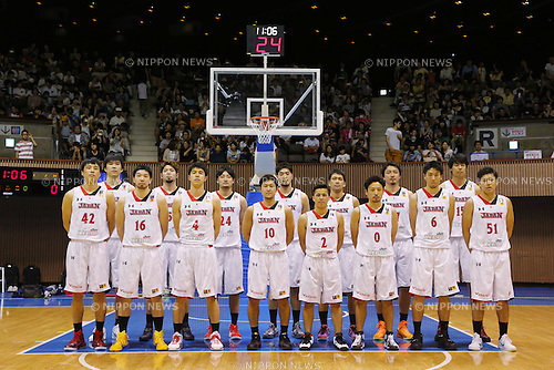 Japan National team group (JPN), AUGUST 15, 2015 - Basketball : International friendly match between Japan 65-54 Czech Republic at 2nd Yoyogi Gymnasium in Tokyo, Japan. (Photo by Yusuke Nakanishi/AFLO SPORT)
