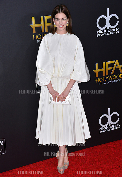 LOS ANGELES, CA. November 04, 2018: Anne Hathaway at the 22nd Annual Hollywood Film Awards at the Beverly Hilton Hotel.<br /> Picture: Paul Smith/Featureflash
