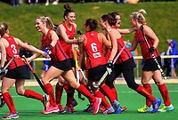 Action from the National Hockey League women's match between the Canterbury Cats and Tiger Turf Horth Harbour at National Hockey Stadium in Wellington, New Zealand on Thursday, 21 October 2017. Photo: Dave Lintott / lintottphoto.co.nz