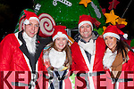 Niall O'Sullivan, Ailish Moriarty, Denis Pio Moriarty, and Maria O'Sullivan at the Christmas in Killarney parade on Friday night