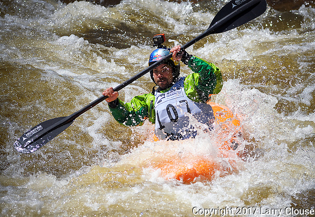 June 8, 2017 - Vail, Colorado, U.S. -  USA's, Rafael Ortiz, on Homestake Creek's difficult course in the Steep Creek competition during the GoPro Mountain Games, Vail, Colorado.  Adventure athletes from around the world meet in Vail, Colorado, June 8-11, for America's largest celebration of mountain sports, music, and lifestyle.