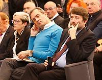 Laurea ad Honorem ad Antonio De Curtis in arte Tot&ograve; conferita dall'Universit&agrave; Federico II di Napoli<br /> il Siondaco di Napoli Luigi De Magistris e il ministro Dario Franceschini