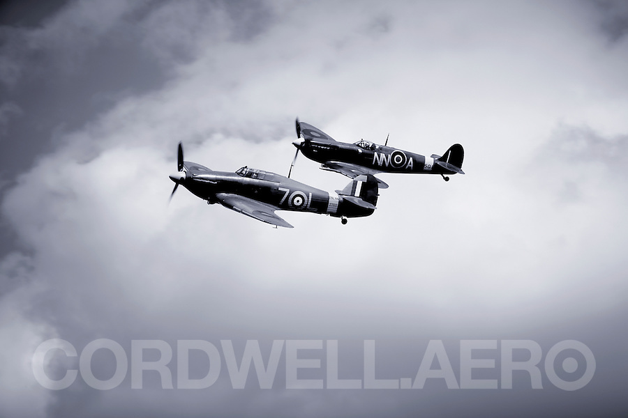 Supermarine Spitfire and Hawker Hurricane, Victors of the Battle of Britain.