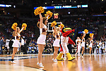 MILWAUKEE, WI - MARCH 18: The Iowa State Cyclones cheerleaders perform during the 2017 NCAA Men's Basketball Tournament held at BMO Harris Bradley Center on March 18, 2017 in Milwaukee, Wisconsin. (Photo by Jamie Schwaberow/NCAA Photos via Getty Images)