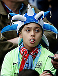 A young Manchester City fan during the Barclays Premier League match at The Etihad Stadium. Photo credit should read: Simon Bellis/Sportimage