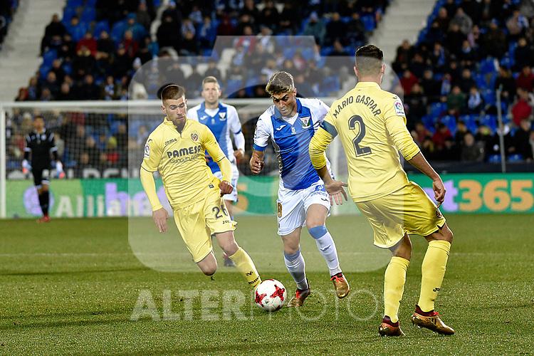 Leganes Gabriel Appelt Pires vs Villarreal during Copa del Rey match. 20180104.
