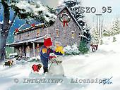 Donald, CHRISTMAS CHILDREN, paintings+++++,USZO95,#xk#