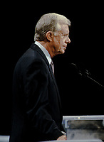New York, NY, USA, July 14, 1992<br /> Former President James (Jimmy) Carter (D-GA) speaks at the Democratic National Convention in Madison Square Garden Credit: Mark Reinstein/MediaPunch