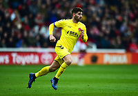 Fleetwood Town's Ched Evans in action<br /> <br /> Photographer Richard Martin-Roberts/CameraSport<br /> <br /> The EFL Sky Bet League One - Barnsley v Fleetwood Town - Saturday 13th April 2019 - Oakwell - Barnsley<br /> <br /> World Copyright &not;&copy; 2019 CameraSport. All rights reserved. 43 Linden Ave. Countesthorpe. Leicester. England. LE8 5PG - Tel: +44 (0) 116 277 4147 - admin@camerasport.com - www.camerasport.com