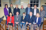Award winners at the Killarney Looking Good awards in Muckross Schoolhouse on Monday evening front row l-r: Carol Hartnett Foley's restaurant, Killarney Mayor Paddy Courtney, Frank McGuire Junior Volunteer award, Minister Jimmy Deenihan, Anne Byrnes Stonechat Restaurant. Back row: Alice O'Brien, Mary Brosnan Monastry NS, Denis Hartnett Foleys Restaurant, Mike K O'Sullivan, Best front garden, James Brosnan, Conservation award, Bart Warren St Mary's Terrace and Eileen O'Neill Ballydribeen