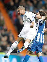 Real Madrid's Pepe during La Liga match. December 16, 2012. (ALTERPHOTOS/Alvaro Hernandez)