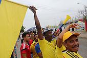 Hinchas de Colombia fuera del estadio Roberto Melendez antes del partido de eliminatorias para el Mundial de F&uacute;tbol 2018 contra Argentina en Barranquilla el 17 de novimbre de 2015.<br /> <br /> Foto: Archivolatino<br /> <br /> COPYRIGHT: Archivolatino<br /> Prohibido su uso sin autorizaci&oacute;n.