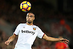 Winston Reid of West Ham United during the Premier League match at Anfield Stadium, Liverpool. Picture date: December 11th, 2016.Photo credit should read: Lynne Cameron/Sportimage