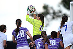11 September 2016: High Point's Alex Hank (0) catches the ball.] The Duke University Blue Devils hosted the High Point University Panthers at Koskinen Stadium in Durham, North Carolina in a 2016 NCAA Division I Women's Soccer match. Duke won the match 4-1.