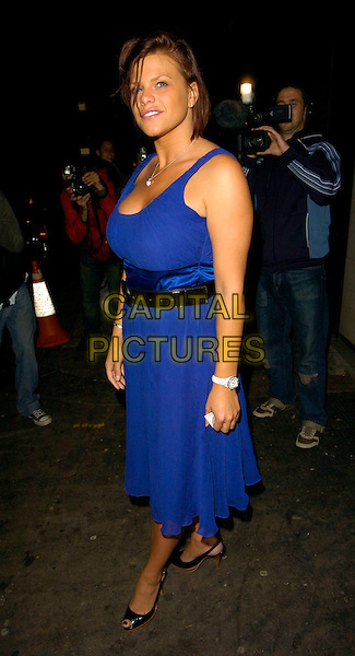 JADE GOODY.The Closer Magazine 4th Anniversary party, Pangaea nightclub, Ldonon, UK..September 25th, 2006.Ref: CAN.full black blue dress black belt.www.capitalpictures.com.sales@capitalpictures.com.©Can Nguyen/Capital Pictures