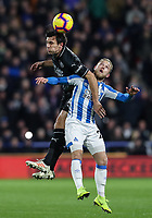 Burnley's Jack Cork competing with Huddersfield Town's Alex Pritchard<br /> <br /> Photographer Andrew Kearns/CameraSport<br /> <br /> The Premier League - Huddersfield Town v Burnley - Wednesday 2nd January 2019 - John Smith's Stadium - Huddersfield<br /> <br /> World Copyright © 2019 CameraSport. All rights reserved. 43 Linden Ave. Countesthorpe. Leicester. England. LE8 5PG - Tel: +44 (0) 116 277 4147 - admin@camerasport.com - www.camerasport.com
