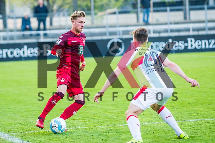 Timo SCHMIDT (#11 Kaiserslautern II) \ Jesse WEIPPERT (#20 VfBII) \ beim Spiel in der Regionalliga VfB Stuttgart II - 1. FC Kaiserslautern II.<br /> <br /> Foto &copy; PIX-Sportfotos *** Foto ist honorarpflichtig! *** Auf Anfrage in hoeherer Qualitaet/Aufloesung. Belegexemplar erbeten. Veroeffentlichung ausschliesslich fuer journalistisch-publizistische Zwecke. For editorial use only.
