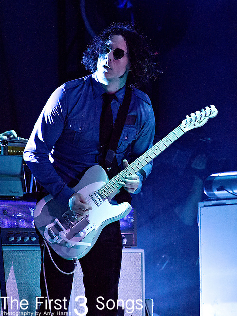 Jack White performs during the Forecastle Music Festival at Waterfront Park in Louisville, Kentucky.