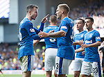 Andy Halliday celebrates his goal with Martyn Waghorn