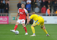 Fleetwood Town's Paul Coutts under pressure from AFC Wimbledon's Mitch Pinnock<br /> <br /> Photographer Kevin Barnes/CameraSport<br /> <br /> The EFL Sky Bet Championship - Fleetwood Town v AFC Wimbledon - Saturday 10th August 2019 - Highbury Stadium - Fleetwood<br /> <br /> World Copyright © 2019 CameraSport. All rights reserved. 43 Linden Ave. Countesthorpe. Leicester. England. LE8 5PG - Tel: +44 (0) 116 277 4147 - admin@camerasport.com - www.camerasport.com