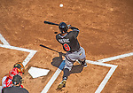 1 April 2013: Miami Marlins outfielder Juan Pierre in action during the Opening Day Game against the Washington Nationals at Nationals Park in Washington, DC. The Nationals shut out the Marlins 2-0 to launch the 2013 season. Mandatory Credit: Ed Wolfstein Photo *** RAW (NEF) Image File Available ***