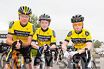 Newcastle West Cycling group,l-r PJ O'Riordan, Brian O'Riordan and Jordan Luke at the Tralee Manor West GP on Sunday