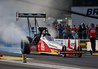 Aug 18, 2017; Brainerd, MN, USA; NHRA top fuel driver Doug Kalitta during qualifying for the Lucas Oil Nationals at Brainerd International Raceway. Mandatory Credit: Mark J. Rebilas-USA TODAY Sports