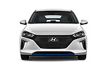 Car photography straight front view of a 2017 Hyundai Ioniq Plug-In Hybride Executive 5 Door Hatchback
