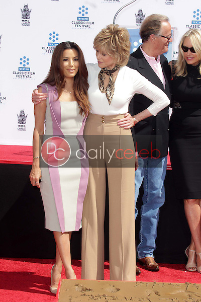 Eva Longoria, Jane Fonda<br /> at the Jane Fonda Hand And Foot Print Ceremony as part of the 2013 TCM Classic Film Festival, TCL Chinese Theater, Hollywood, CA 04-27-13<br /> David Edwards/DailyCeleb.Com 818-249-4998