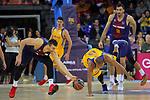 League ACB-ENDESA 2017/2018 - Game: 12.<br /> FC Barcelona Lassa vs Herbalife Gran Canaria: 77-88.<br /> Victor Claver vs Eulis Baez.