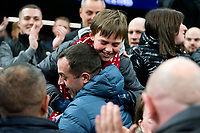 Liverpool fan reacts to receiving Trent Alexander-Arnold's match jersey<br /> <br /> Photographer Stephanie Meek/CameraSport<br /> <br /> The Premier League - Tottenham Hotspur v Liverpool - Saturday 11th January 2020 - Tottenham Hotspur Stadium - London<br /> <br /> World Copyright © 2020 CameraSport. All rights reserved. 43 Linden Ave. Countesthorpe. Leicester. England. LE8 5PG - Tel: +44 (0) 116 277 4147 - admin@camerasport.com - www.camerasport.com