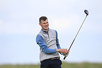 David Brady (Co.Sligo) on the 9th tee during Round 2 of The East of Ireland Amateur Open Championship in Co. Louth Golf Club, Baltray on Sunday 2nd June 2019.<br /> <br /> Picture:  Thos Caffrey / www.golffile.ie<br /> <br /> All photos usage must carry mandatory copyright credit (© Golffile | Thos Caffrey)