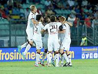 Esultanza di Daniele Baselli durante l'incontro di calcio di Serie A   Frosinone - Torino  allo  Stadio Matusa di   di Frosinone ,23 Agosto 2015