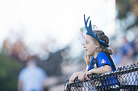 Seattle, WA - Sunday, May 1, 2016: Seattle Reign FC fans watch their home team warm-up prior to the match at Memorial Stadium.