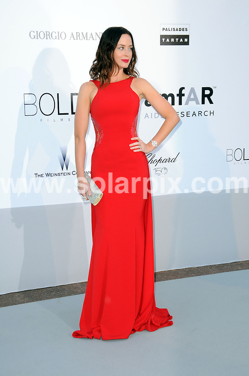 **ALL ROUND PICTURES FROM SOLARPIX.COM**.**WORLDWIDE SYNDICATION RIGHTS**.amfAR party arrivals at the Hotel Du Cap, as part of the 2010 Cannes Film festival, Cannes, France. 20 May 2010..This pic: Emily Blunt..JOB REF: 11305 MSR    DATE: 20_05_2010.**MUST CREDIT SOLARPIX.COM OR DOUBLE FEE WILL BE CHARGED**.**MUST NOTIFY SOLARPIX OF ONLINE USAGE**.**CALL US ON: +34 952 811 768 or LOW RATE FROM UK 0844 617 7637**