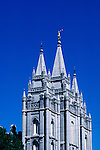 Utah, Salt Lake City, The Temple at Temple Square..Photo # utsalt604.  Photo copyright Lee Foster.  .