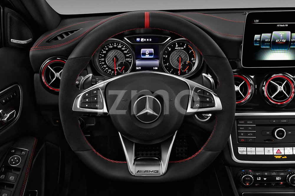 Car pictures of steering wheel view of a 2019 Mercedes Benz GLA AMG 45 5 Door SUV