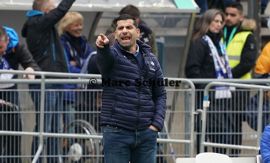 Trainer Dimitrios Grammozis (SV Darmstadt 98) - 29.02.2020: SV Darmstadt 98 vs. 1. FC Heidenheim, Stadion am Boellenfalltor, 24. Spieltag 2. Bundesliga<br /> <br /> DISCLAIMER: <br /> DFL regulations prohibit any use of photographs as image sequences and/or quasi-video.