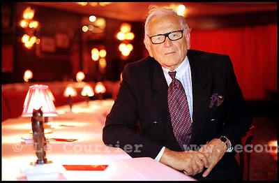 Genève,  le 19.052000.M.Pierre Cardin, créateur de haute couture..© Jean-Patrick Di Silvestro / Le Courrier