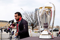 Toronto, ON, Canada - Thursday Dec. 08, 2016: Dwayne De Rosario, MLS Cup during a press conference prior to MLS Cup at BMO Field.