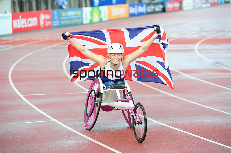 IPC European Athletics Championship 2014<br /> Swansea University<br /> <br /> Samantha Kinghorn (GBR)  - women's 800m T53<br /> <br /> 21.08.14<br /> Chris Vaughan-SPORTINGWALES