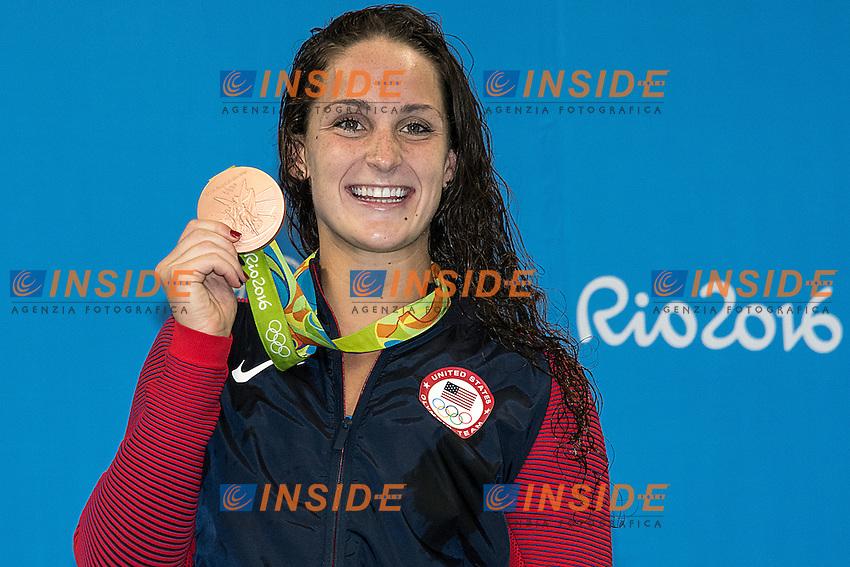 Smith Leah USA<br /> 400 freestyle women<br /> Rio de JaneiroXXXI Olympic Games <br /> Olympic Aquatics Stadium <br /> Swimming finals 07/08/2016<br /> Photo Giorgio Scala/Deepbluemedia/Insidefoto