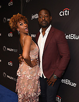 """HOLLYWOOD, CA - MARCH 24: Ryan Michelle Bathe and Sterling K. Brown attend PaleyFest 2019 for 20th Century Fox Television's """"This is Us"""" at the Dolby Theatre on March 24, 2019 in Hollywood, California. (Photo by Frank Micelotta/20th Century Fox Television/PictureGroup)"""
