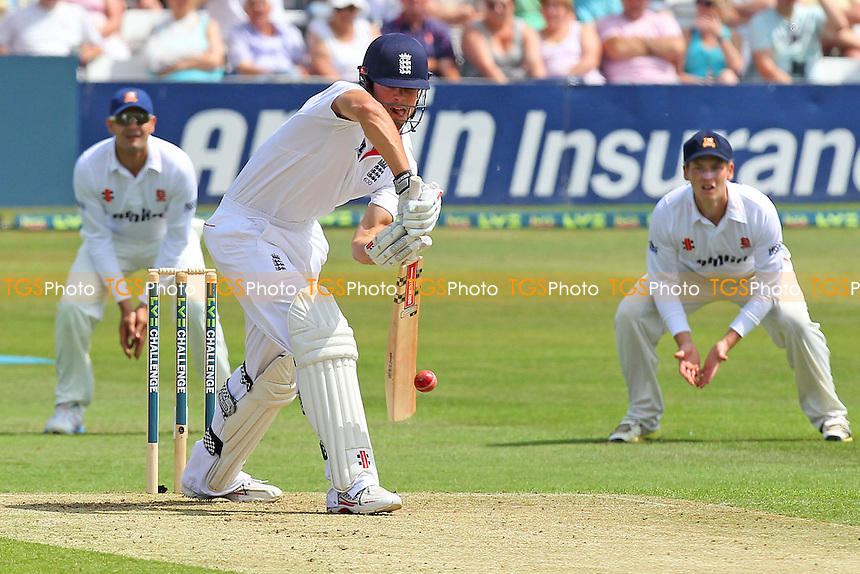Alastair Cook in batting action for England - Essex CCC vs England - LV Challenge Match at the Essex County Ground, Chelmsford - 30/06/13 - MANDATORY CREDIT: Gavin Ellis/TGSPHOTO - Self billing applies where appropriate - 0845 094 6026 - contact@tgsphoto.co.uk - NO UNPAID USE