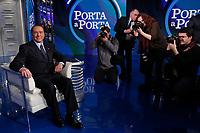 Silvio Berlusconi poses for photographers<br /> Roma 11/01/2018. Trasmissione tv Rai 'Porta a Porta'.<br /> Rome January 11th 2018. Silvio Berlusconi appears as a guest on the talk show 'Porta a Porta' in Rome<br /> Foto Samantha Zucchi Insidefoto
